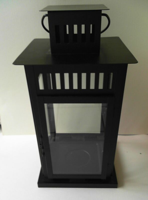 $18.99 • Buy  Tall Ikea Borrby Lantern Indoor/Outdoor Black 701.561.11 (not For Hanging)