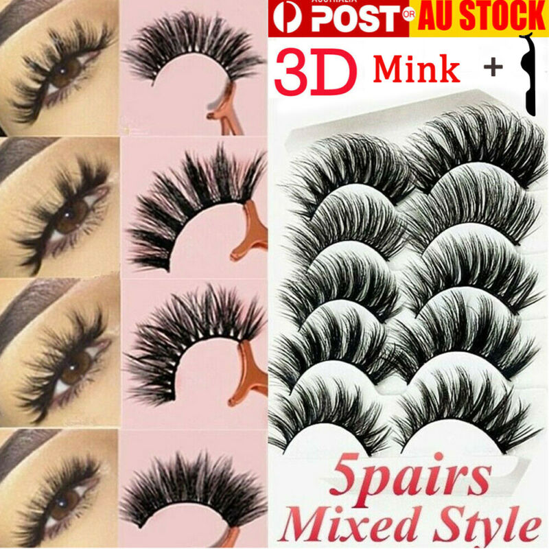 AU6.58 • Buy 10PAIRS Natural Makeup Eye Lashes Soft Mink Long Mixed Fake False Eyelashes Set