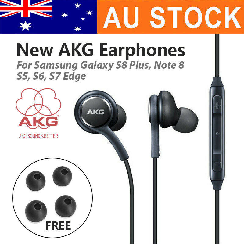 AU7.49 • Buy For SAMSUNG AKG Earphones Earbuds S8 + Note 8 S9 Galaxy Mic HEADSET Headphones