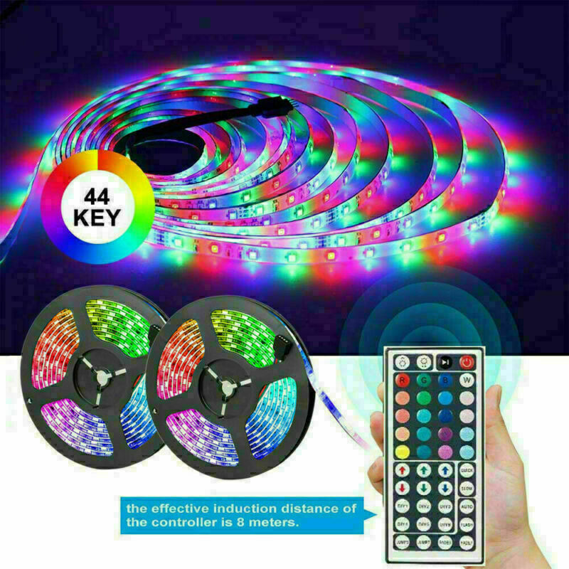 $16.89 • Buy 10M 32FT 3528 Waterproof SMD RGB 600LEDs LED Light Strip 44Key IR Remote Control