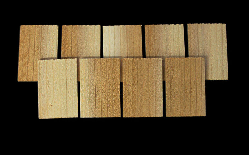 Dollhouse CEDAR SHAKE SHINGLES 300 Pc / Raw Material Wood Roofing /Craft Project • 12.25$
