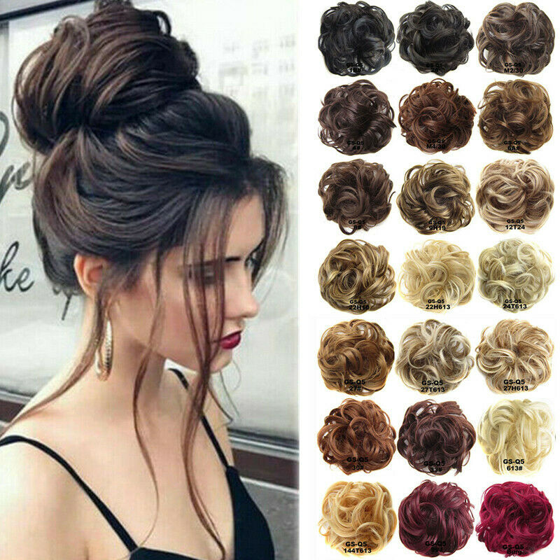 $5.39 • Buy Ponytail Messy Bun Updo Wavy Hairpiece Scrunchie Hair Extensions Party Wedding