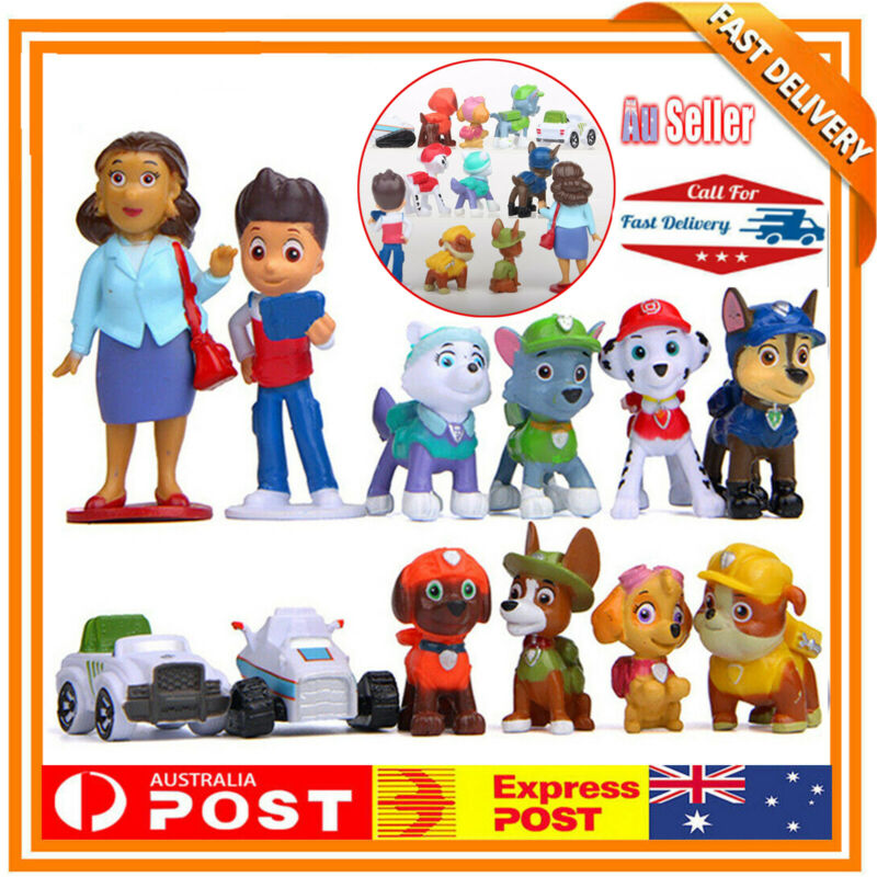 AU14.24 • Buy 12X Paw Patrol Dog Puppy Rescue Character Toys Figure Figurine Cake Topper Gifts