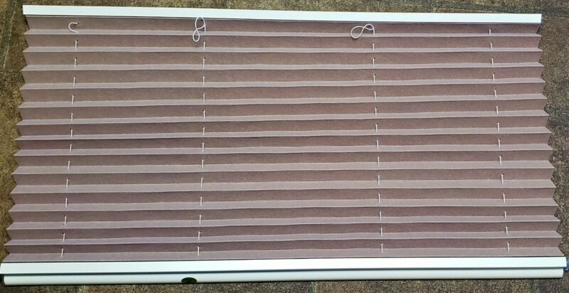 32  W X 22  L Pleated RV Window Shades Blind Night Suede Color Trailer Camper • 28.99$