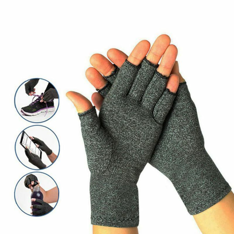 Unisex Anti-Arthritis Compression Gloves Support Carpal Tunnel Computer Typing • 6.29$