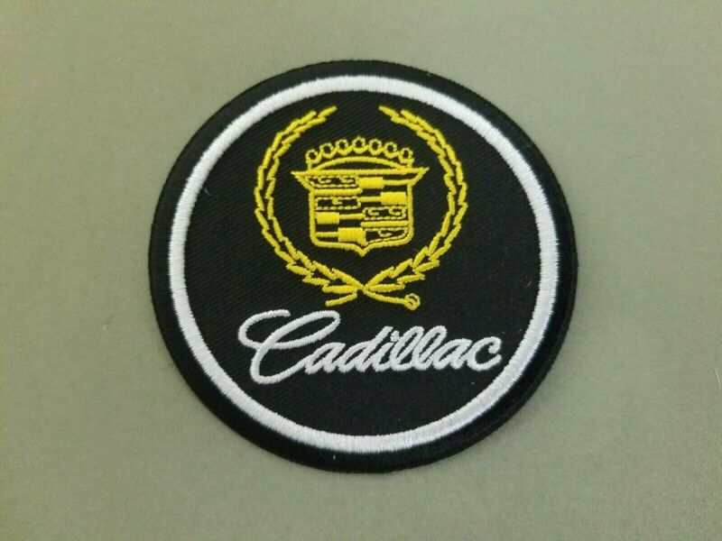Cadillac Embroidered Iron On Patch.  • 4$