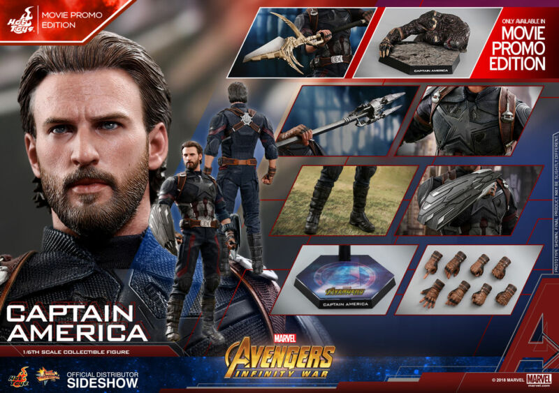 $294.99 • Buy Hot Toys Captain America Movie Promo Edition Avengers Infinity War MMS481 New