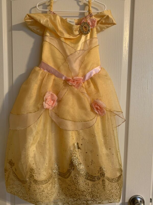 Belle Beauty And The Beast Costume Size 5-6 Disney Store • 16.99$
