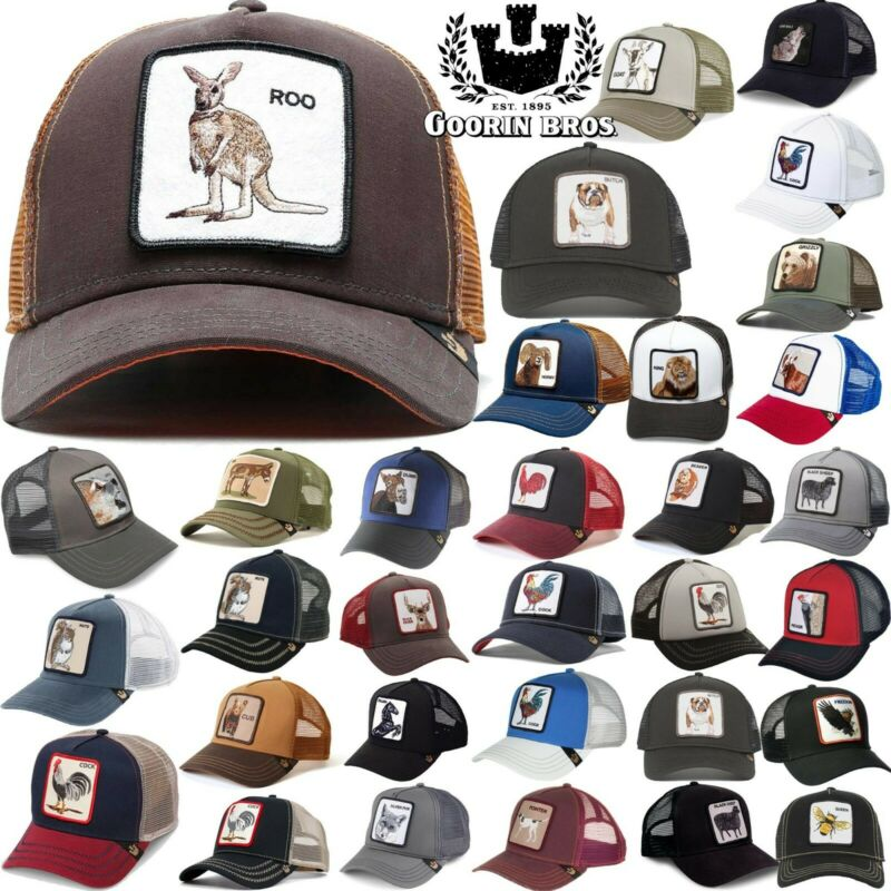 82dec650 GOORIN BROS TRUCKER Hat Snapback Cap ANIMAL FARM Rooster Donkey Gallo  Beaver • 30.40$