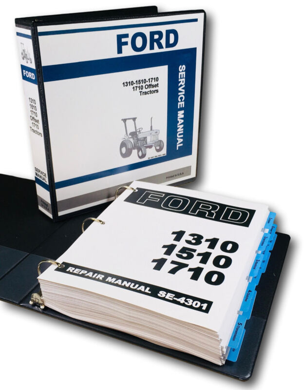 ford 1310 1510 1710 compact 1710 offset tractor service repair shop manual  book • 54 97$