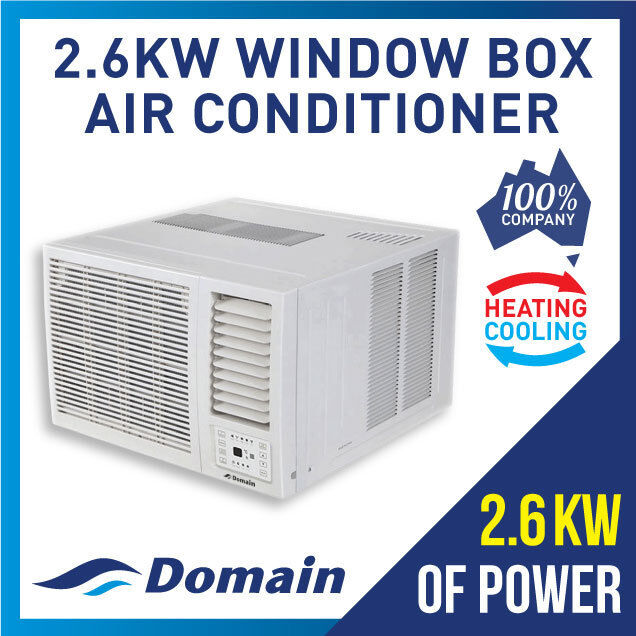 AU449 • Buy New Domain 2.6kw Window Wall Box Reverse Cycle Heat + Cool Air Conditioner