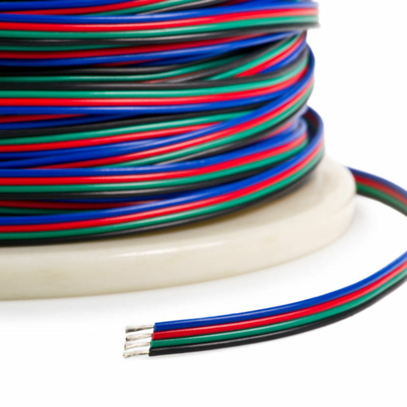 4-PIN RGB Extension Connector Wire Cable Cord For 3528/5050 RGB LED Strip Light • 5.79$