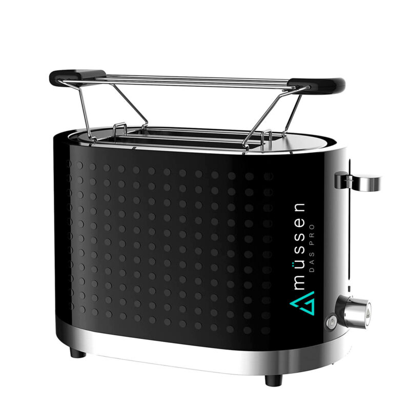 AU34 • Buy Toaster 2 Slice Electric Black & Silver With Warming Rack Crumb Tray Toast Slot