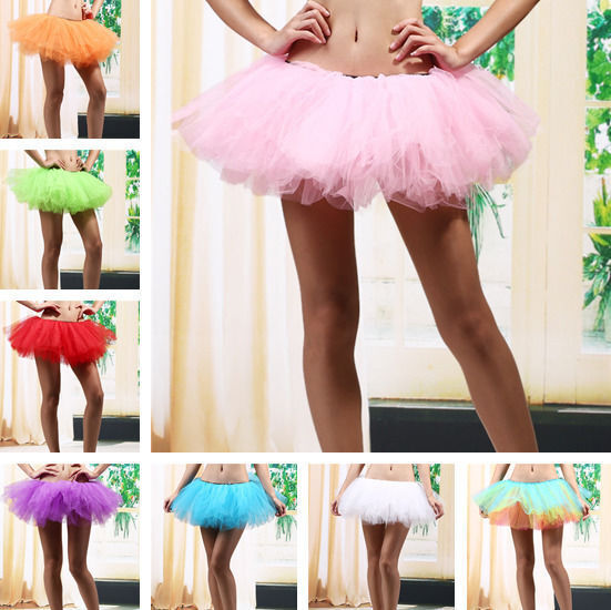 13950f204 5 Layers Adult Women Tutu Tulle Skirt Petticoat Dance Rave Neon Party US  STOCK • 8.99