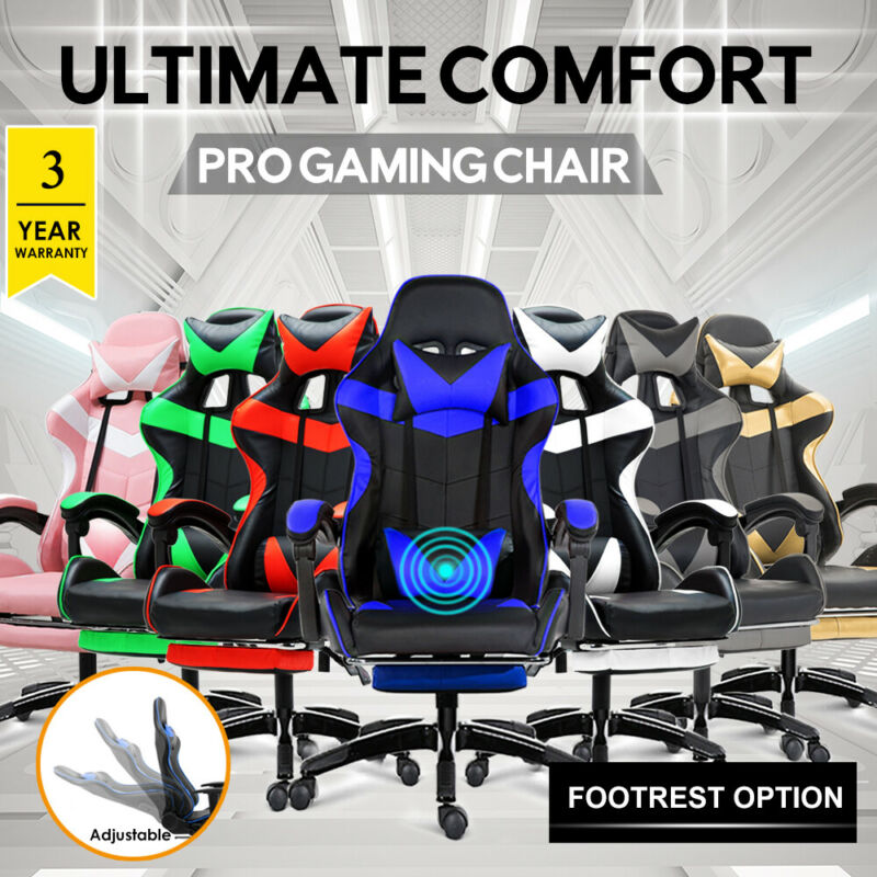 AU135 • Buy ()Gaming Chair Office Computer Seating Racing PU Executive Racer