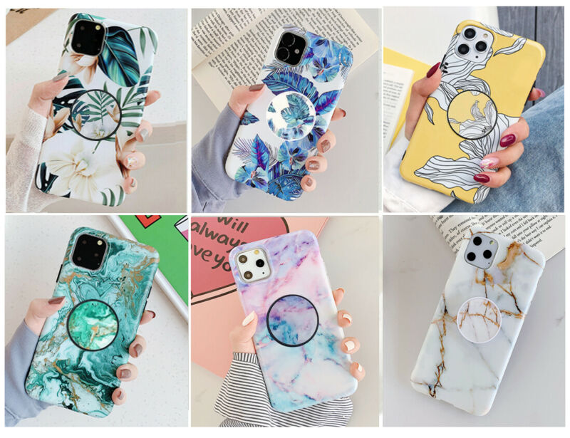 AU9.98 • Buy MultiColor Marble Stand Holder Soft Case Cover F IPhone 11 Pro MAX 6S 7 8 X XR