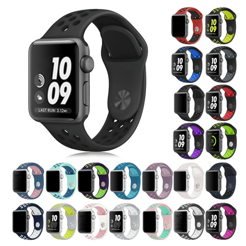 $ CDN5.49 • Buy 38/42/40/44/mm Silicone Sport IWatch Band Strap For Apple Watch Series 5 4 3 2 1