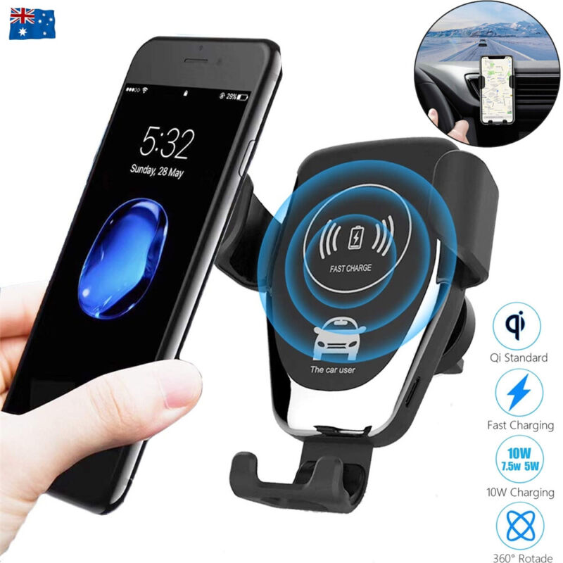 AU12.85 • Buy Qi Wireless Fast Charger Car Gravity Holder Mount For IPhone X Xs Max S9 S10 +