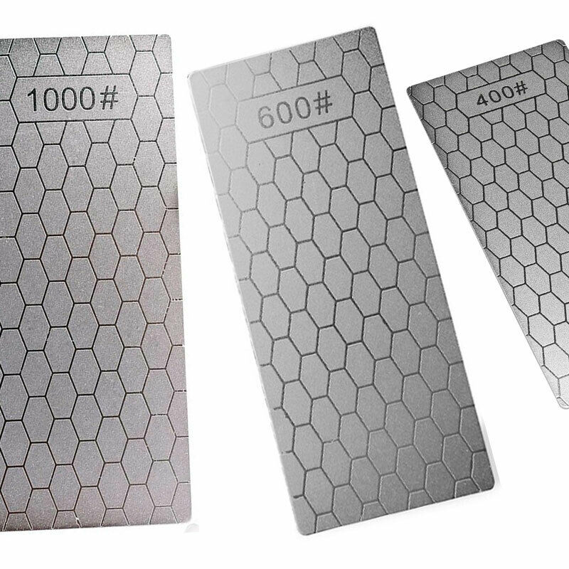 $16.49 • Buy 3PCS 400&600&1000# Diamond Plate Knife Sharpening Stone Whetstone US 666