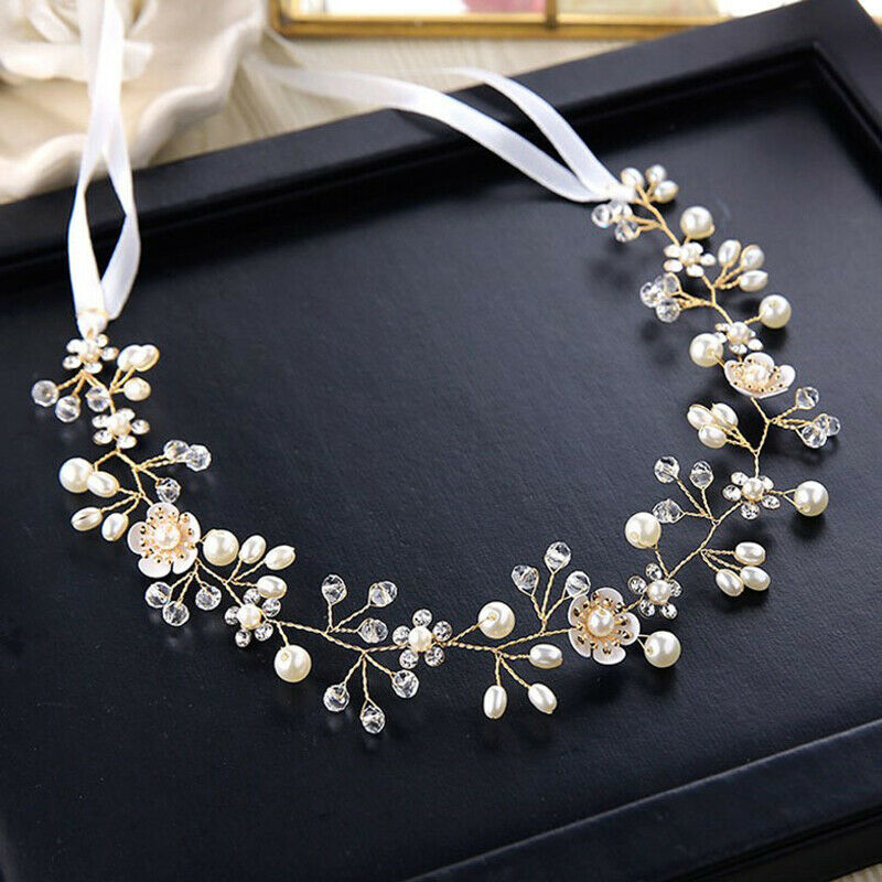 $7.09 • Buy Pearl Flower Crystal Rhinestone Wedding Bridal Headband Crown Hair Band Decor