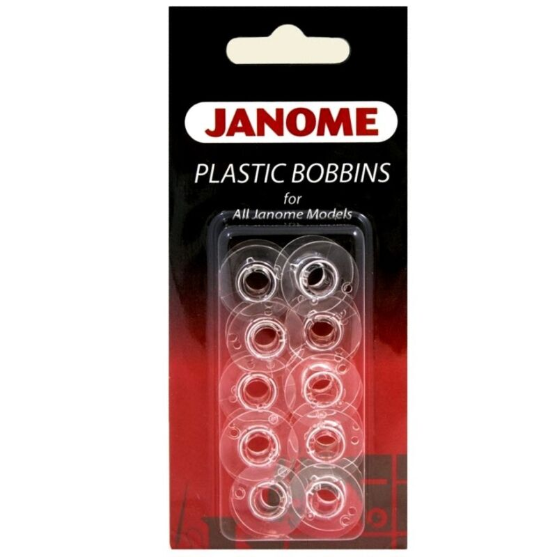 Janome Genuine 10 Pk. Plastic Bobbins #200122614 For All Janome & Necchi Models • 6$