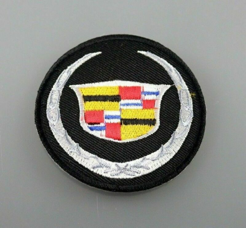 CADILLAC MOTOR CAR Racing SPORTS Embroidered Patch Iron On LOGO Cap Logo Badge • 2.98$