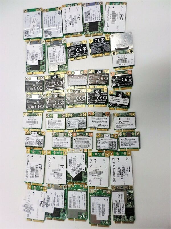 $ CDN108.48 • Buy Lot Of 40 Various HP Wifi Cards For Laptops Wireless Network Wi-Fi Adapters