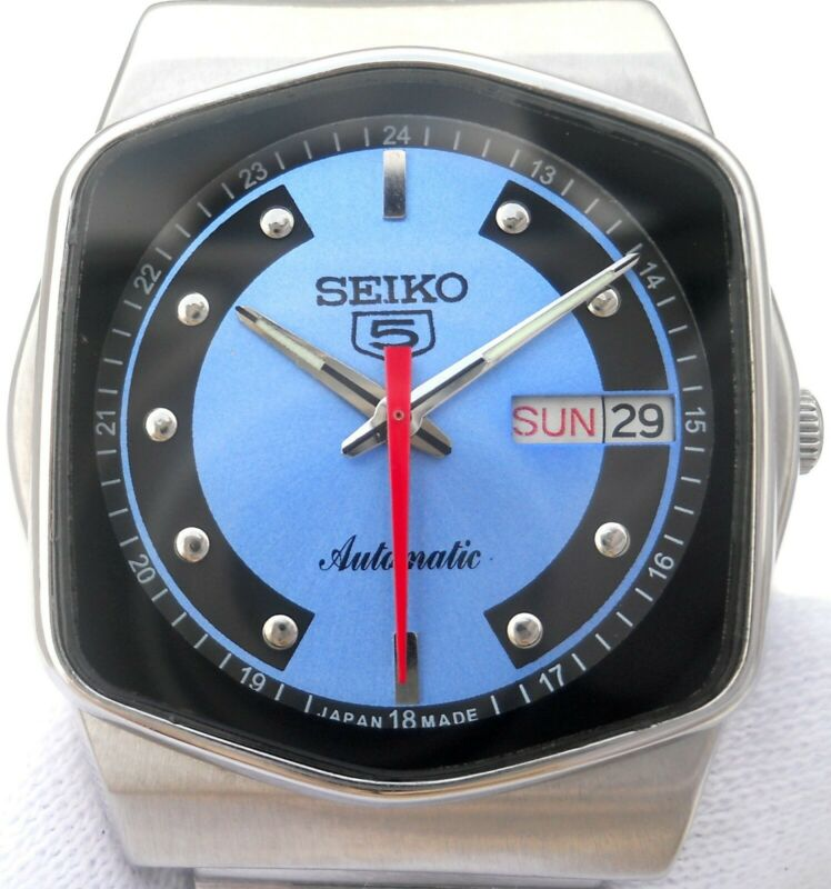 $ CDN56.08 • Buy Vintage Japan Seiko 5 Automatic Gorgeous Blue Classic Day Date Mens Watch.