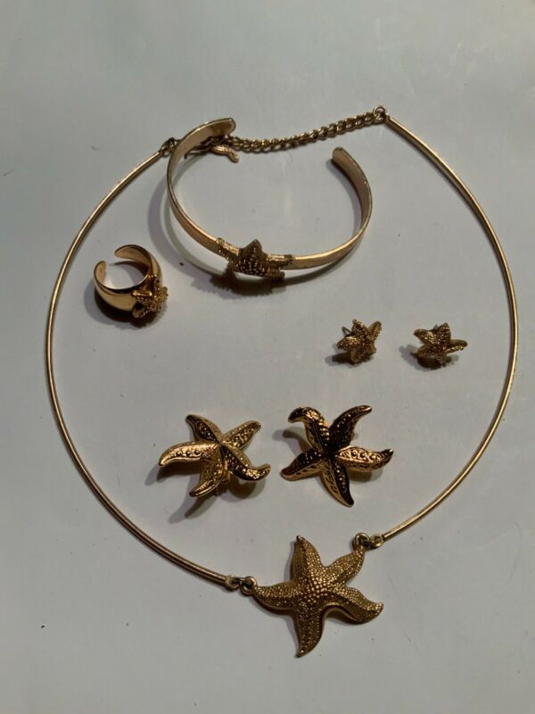 $21 • Buy Starfish Jewelry Necklace Earrings Ring Sarah Coventry