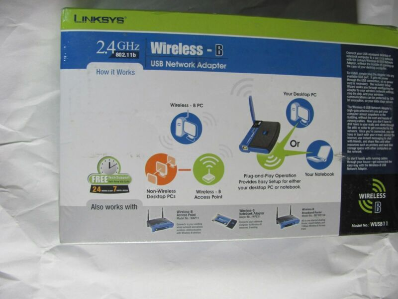 $7.95 • Buy  Linksys Wireless- B 2.4GHz USB Network Adapter  WUSB11