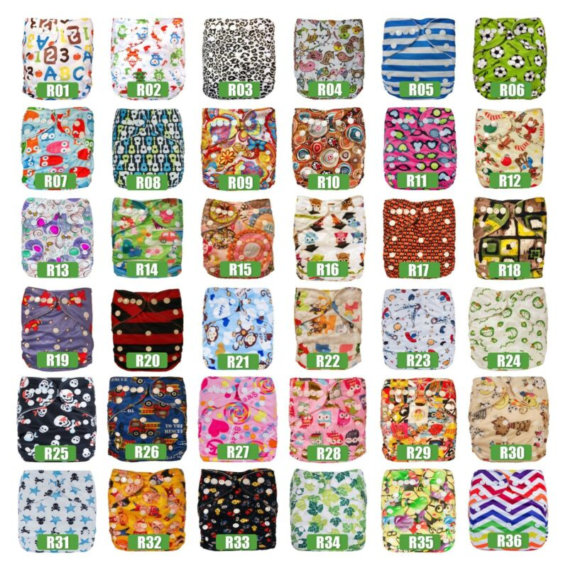 AU58.99 • Buy 10 Baby Cloth Nappies MCNs Inserts Liners Reusable Adjustables My Little Ripple
