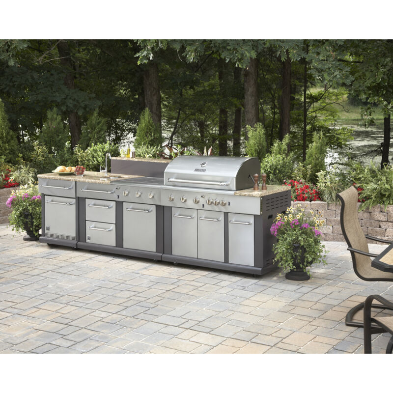 Huge Outdoor Kitchen Bbq Grill - Sink - Refrigerator - Ice Box - Trash Can  • 4,999.98$