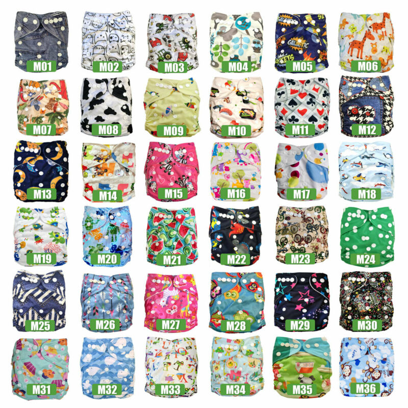AU58.99 • Buy Bulk Pack Reusable Baby Cloth Nappies MCNs + Inserts Liners My Little Ripple