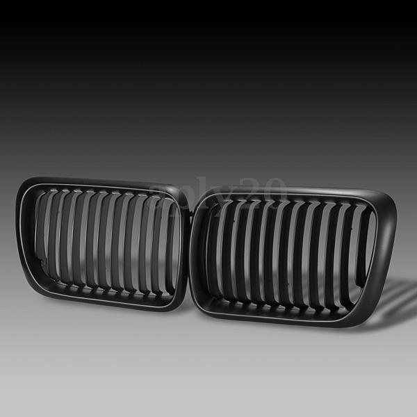 $20.99 • Buy Pair Matte Black Front Hood Kidney Grill Grille For BMW 3 Series E36 M3 97-99