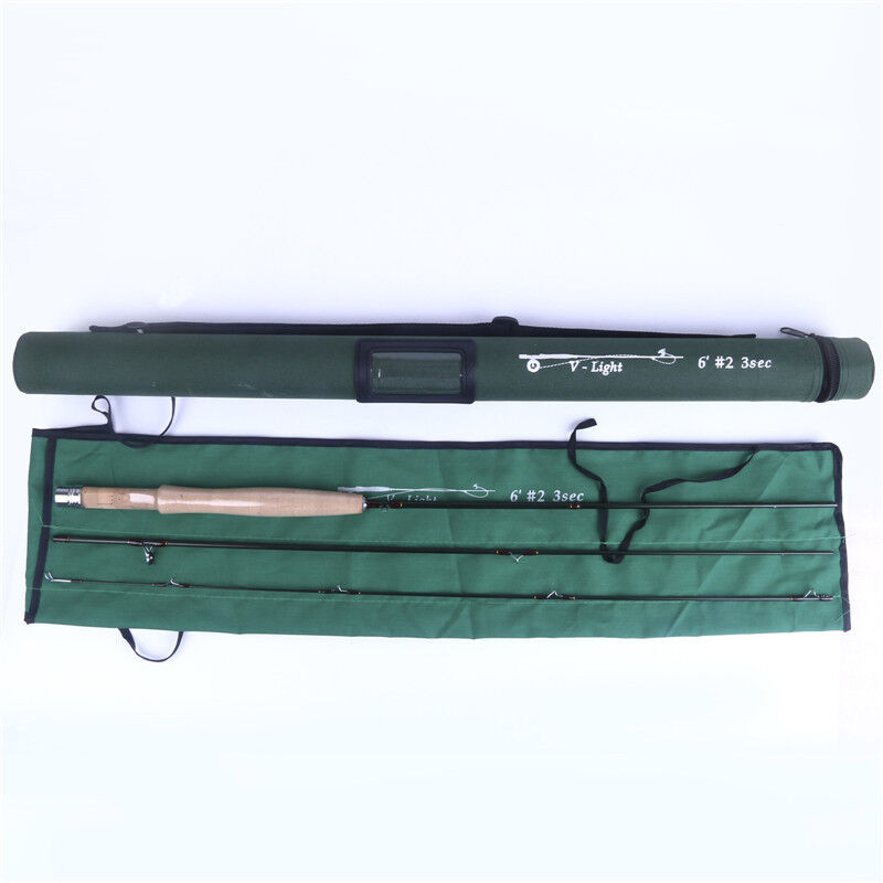 6' 2wt V-Light By FMO 3pc Travel Fly Rod IM12 Graphite + Free Brook Trout Gaiter • 69.99$