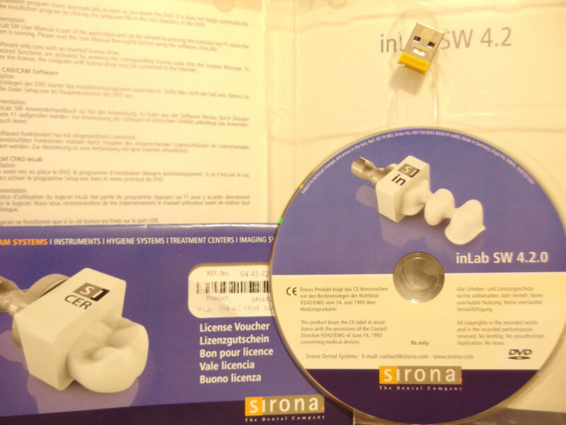 InLab 4.2 Software With Licence   SIRONA New CEREC • 349$