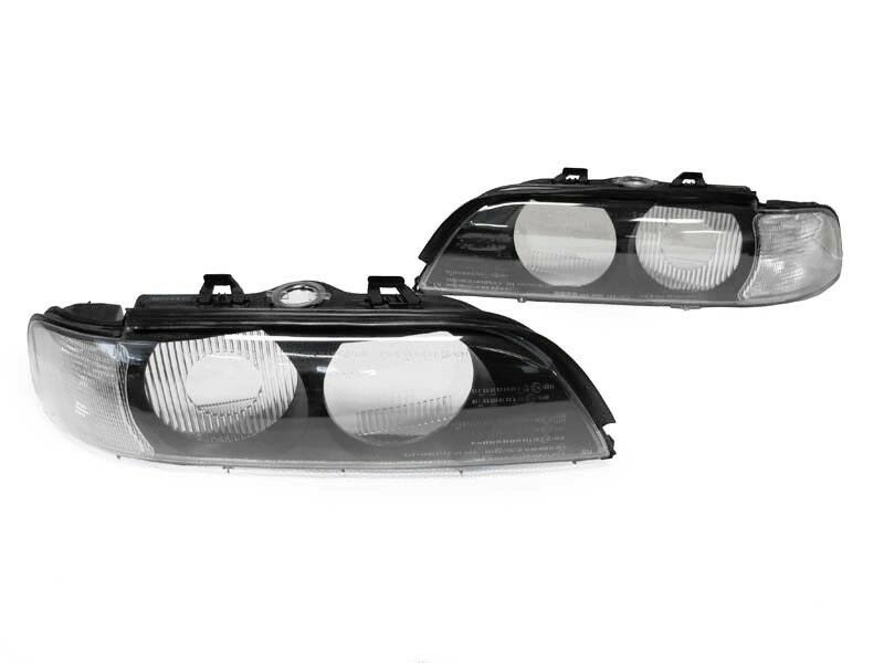$117.93 • Buy DEPO 97-00 BMW E39 Euro Clear Corner Replacement Headlight Lense Cover Frame Set