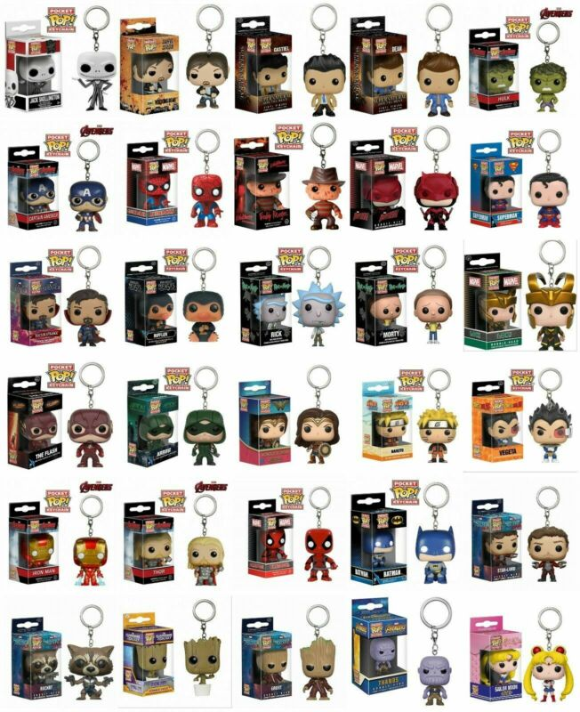 AU12.99 • Buy Keychain Funko Pocket Pop Vinyl DC Marvel Iron Man Avengers Figure Keyring Model