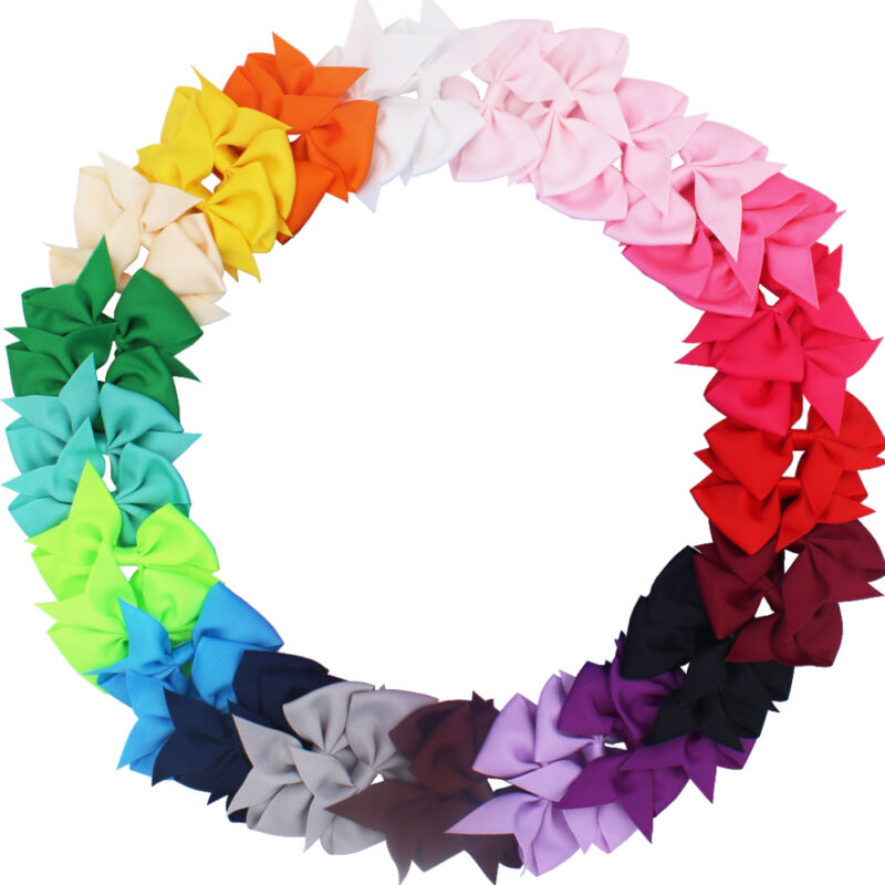$8.99 • Buy 40 Pcs Lots Boutique Baby Girls Hair Bows Kids Alligator Hair Clips In Pairs