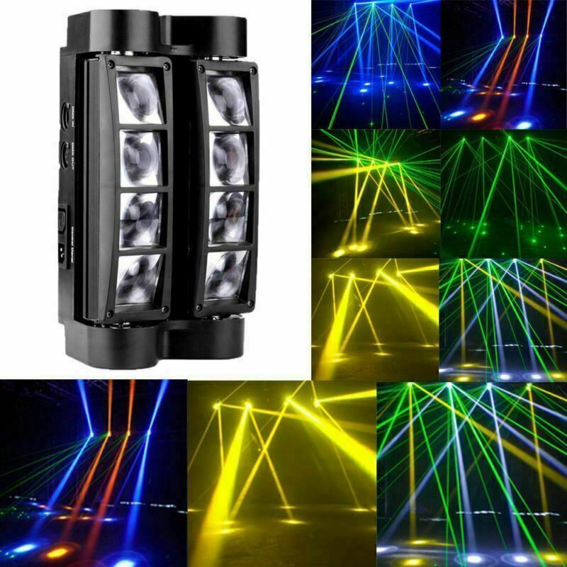 80W RGBW 8x LED Spider Beam Moving Head Stage Lighting Bar Disco DJ Party Lights • 47.98$