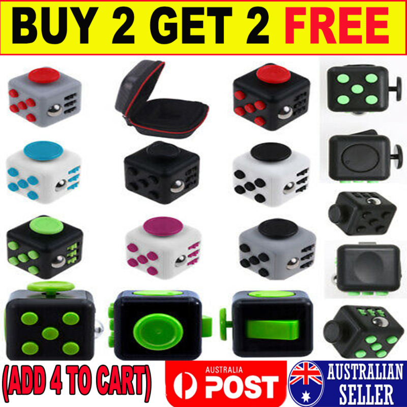 AU7.59 • Buy 3D Fidget Hand Finger Spinner Cube Focus Stress Reliever Toys Kids Xmas Gifts G