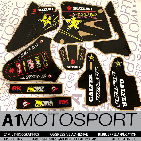 $39.95 • Buy ROCKSTAR Factory Quality Graphics SUZUKI RM85 RM85L  2002-2019 Motocross Decals