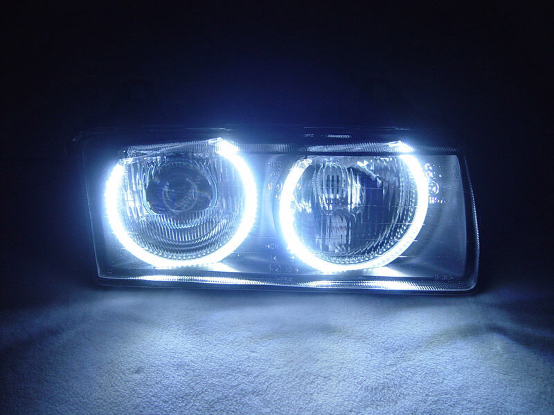 $319.93 • Buy DEPO UHP LED Angel Eyes Euro Projector Glass Headlight For BMW E36 3 Series
