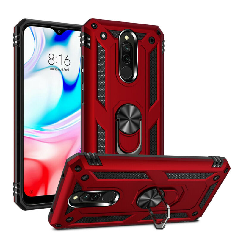 For Xiaomi Redmi Note 8 7 Pro 8A 7A Hybrid Armor Magnetic Ring Holder Case Cover • 8.99$