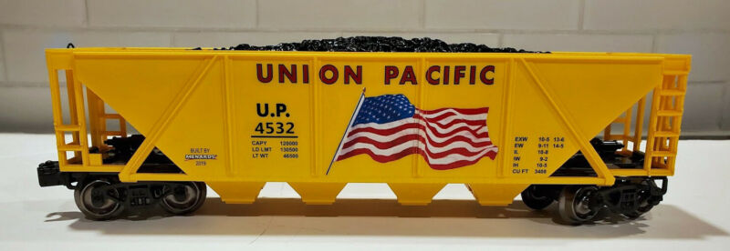 $29.99 • Buy Union Pacific Hopper Car 0 Scale Model Train Car