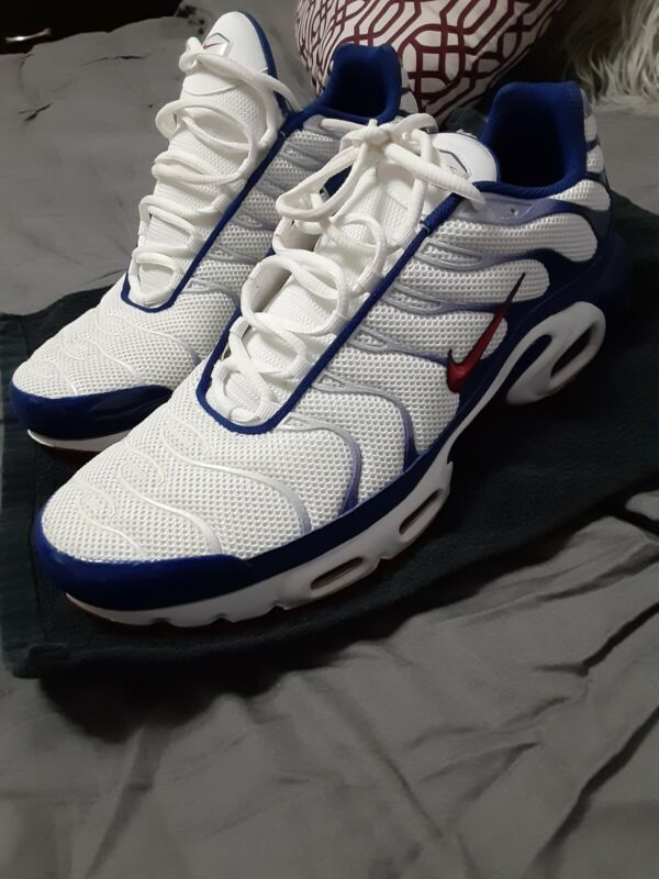 $100 • Buy Mens Nike Air Max Plus, Red,white,blue, Size 13. Worn Once On 4th Of July