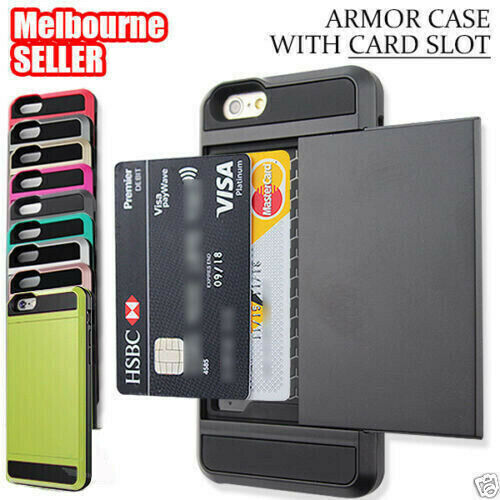 AU5.93 • Buy IPhone 8 6S 7 6 Plus X Shockproof Armor Card Case Cover Apple +Screen Protector