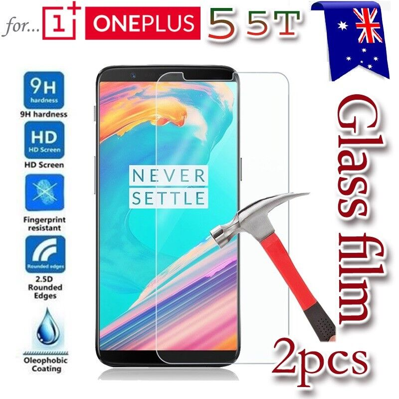 AU4.90 • Buy 2X Oneplus 5 5T Tempered Glass /Plastic Screen Protector Guard For One Plus 5 5T