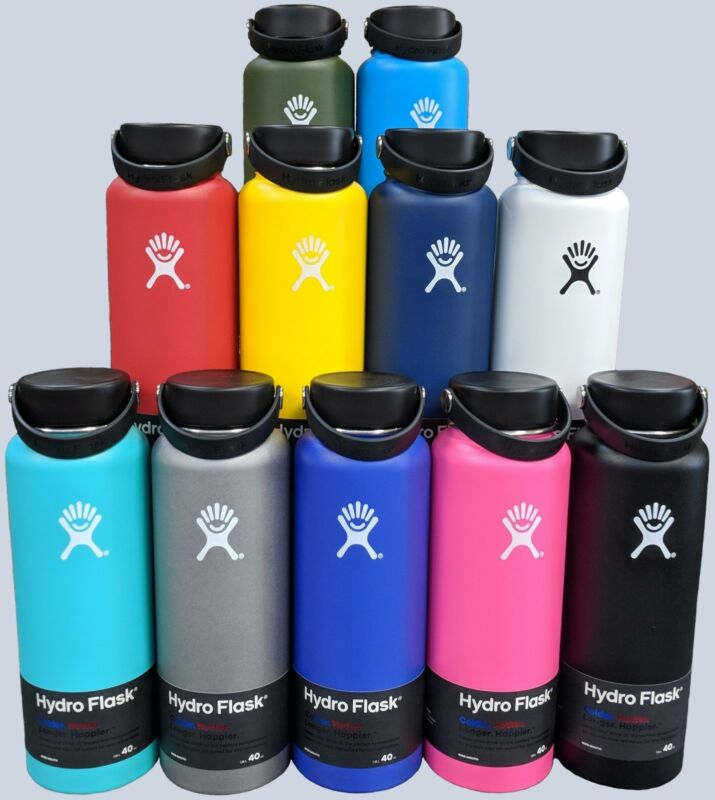 Hydro Flask Wide Mouth Stainless Steel Bottle With Flex Cap 18oz 32oz 40oz 64oz • 44.95$