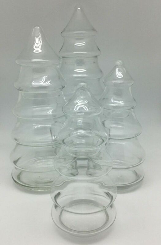 $24.99 • Buy Vintage Glass Christmas Tree Candy Dish With Lid - Choose Your Size